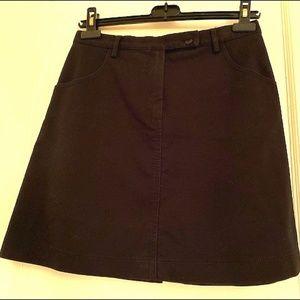 Sarah Pacini short black A-line skirt